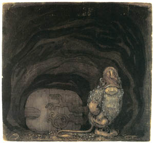 thumbnail John Bauer – When Mother Troll Took in the King's Washing 1 [from Swedish Folk Tales]