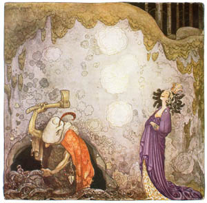 thumbnail John Bauer – The Changelings 4 [from Swedish Folk Tales]