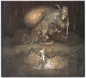 thumbnail John Bauer – The Boy and the Trolls, or the Adventure 1 [from Swedish Folk Tales]