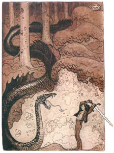 thumbnail John Bauer – The Maiden in the Castle of Rosy Clouds 1 [from Swedish Folk Tales]