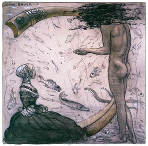 thumbnail John Bauer – Agneta and the Sea King 2 [from Swedish Folk Tales]