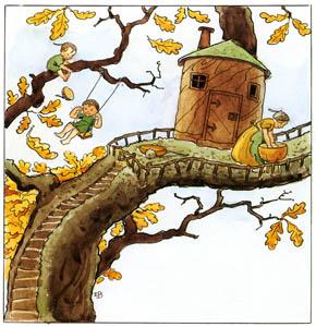 エルサ・ベスコフ – 挿絵1 (どんぐりぼうやより)のサムネイル画像