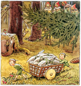 thumbnail Elsa Beskow – Plate 3 [from Woody, Hazel and Little Pip]