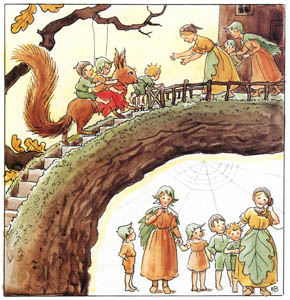 thumbnail Elsa Beskow – Plate 13 [from Woody, Hazel and Little Pip]