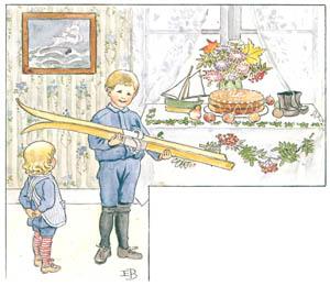 エルサ・ベスコフ – 挿絵1 (ウッレのスキーのたびより)のサムネイル画像