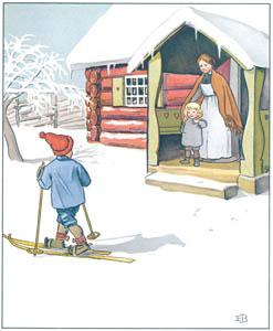 エルサ・ベスコフ – 挿絵2 (ウッレのスキーのたびより)のサムネイル画像