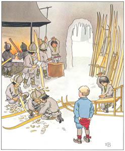 エルサ・ベスコフ – 挿絵9 (ウッレのスキーのたびより)のサムネイル画像