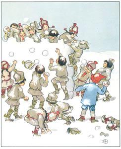 エルサ・ベスコフ – 挿絵10 (ウッレのスキーのたびより)のサムネイル画像