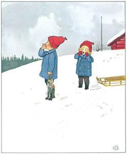 エルサ・ベスコフ – 挿絵12 (ウッレのスキーのたびより)のサムネイル画像