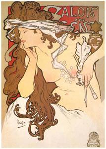 thumbnail Alphonse Mucha – SALON DES CENT. XXme Exposition. [from Catalogue de l'Exhibition Paris de la Belle Epoque 1982]