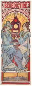 アルフォンス・ミュシャ – ベネディクティン酒 (ベルエポックの巴里展より)のサムネイル画像