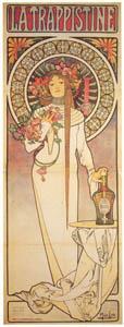 アルフォンス・ミュシャ – トラピスティン酒 (ベルエポックの巴里展より)のサムネイル画像