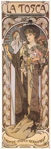 thumbnail Alphonse Mucha – LA  TOSCA. Théâtre Sarah-Bernhardt. [from Catalogue de l'Exhibition Paris de la Belle Epoque 1982]