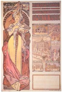 thumbnail Alphonse Mucha – Oesterreich auf der Weltausstellung Paris 1900. [from Catalogue de l'Exhibition Paris de la Belle Epoque 1982]