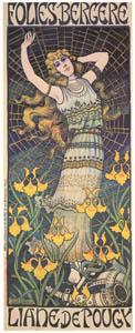 thumbnail Paul Berthon – LIANE DE POUGY. Folies Bergère. [from Catalogue de l'Exhibition Paris de la Belle Epoque 1982]