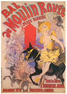 thumbnail Jules Chéret – Bal du Moulin Rouge. Place Blanche. [from Catalogue de l'Exhibition Paris de la Belle Epoque 1982]