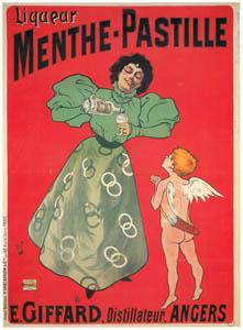 thumbnail MISTI (Ferdinand Mifliez) – Liqueur Menthe Pastille. Angers. [from Catalogue de l'Exhibition Paris de la Belle Epoque 1982]