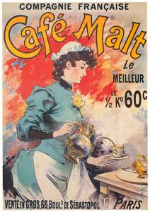 thumbnail Lucien Lefèvre – Compagnie française. Café Malt. [from Catalogue de l'Exhibition Paris de la Belle Epoque 1982]