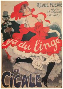 """thumbnail Jules-Alexandre Grün – """"Y a du linge"""". La Cigale. [from Catalogue de l'Exhibition Paris de la Belle Epoque 1982]"""