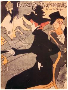 アンリ・ド・トゥールーズ=ロートレック – ディヴァン・ジャポネ (ベルエポックの巴里展より)のサムネイル画像