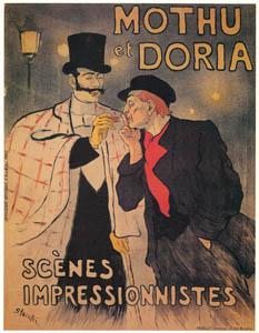 thumbnail Théophile Steinlen – Mothu et Doria. Scènes impressionistes. [from Catalogue de l'Exhibition Paris de la Belle Epoque 1982]