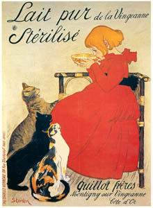 テオフィル・アレクサンドル・スタンラン – ヴァンジャンヌの牛乳 (ベルエポックの巴里展より)のサムネイル画像