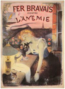 thumbnail Adolphe Willette – Fer Bravais contre l'anémie. [from Catalogue de l'Exhibition Paris de la Belle Epoque 1982]