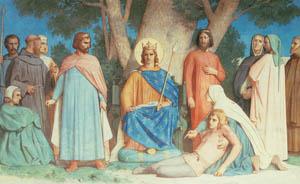 ウィリアム・アドルフ・ブグロー – 正義の裁きを下す聖ルイ (Bouguereauより)のサムネイル画像