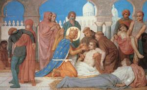 ウィリアム・アドルフ・ブグロー – ペスト患者の世話をする聖ルイ (Bouguereauより)のサムネイル画像
