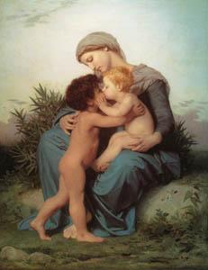 ウィリアム・アドルフ・ブグロー – 兄弟愛 (Bouguereauより)のサムネイル画像