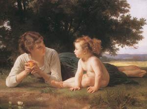 ウィリアム・アドルフ・ブグロー – 誘惑 (Bouguereauより)のサムネイル画像