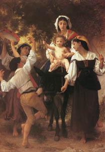 ウィリアム・アドルフ・ブグロー – 収穫からの帰還 (Bouguereauより)のサムネイル画像