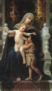 ウィリアム・アドルフ・ブグロー – 聖母子と洗礼者聖ヨハネ (Bouguereauより)のサムネイル画像