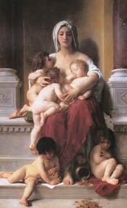 ウィリアム・アドルフ・ブグロー – 慈愛 (Bouguereauより)のサムネイル画像
