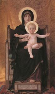 ウィリアム・アドルフ・ブグロー – 聖母子 (Bouguereauより)のサムネイル画像