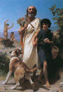 thumbnail William Adolphe Bouguereau – Homer and his Guide [from Bouguereau]