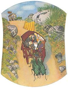 エルンスト・クライドルフ – 車に乗るこびとたち (くさはらのこびとより)のサムネイル画像