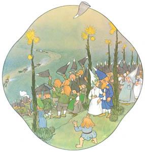 エルンスト・クライドルフ – 結婚式の行列 (くさはらのこびとより)のサムネイル画像