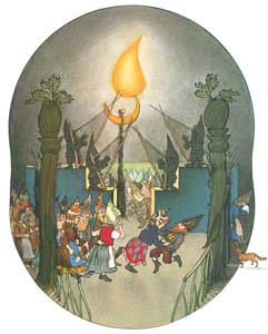 エルンスト・クライドルフ – 大広場でのおどり (くさはらのこびとより)のサムネイル画像