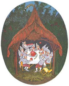 エルンスト・クライドルフ – こけものの実を食べるくさはらのこびと (くさはらのこびとより)のサムネイル画像