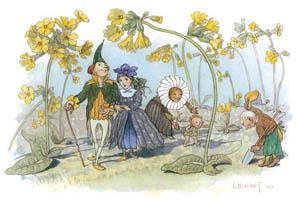 エルンスト・クライドルフ – プリムラの花園 (Blumen Maerchenより)のサムネイル画像