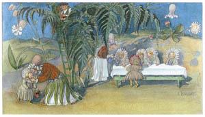 エルンスト・クライドルフ – ヒナギクさんのお茶会 (Blumen Maerchenより)のサムネイル画像