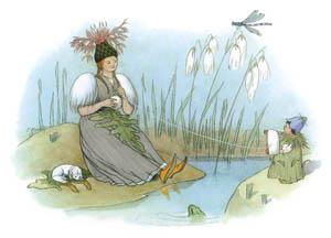 エルンスト・クライドルフ – ヤグルマギクとツリガネソウ (Blumen Maerchenより)のサムネイル画像