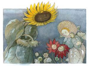 エルンスト・クライドルフ – ヒマワリ夫人とダリヤ夫人 (Blumen Maerchenより)のサムネイル画像