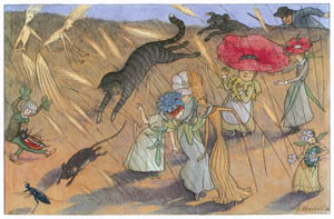 thumbnail Ernst Kreidolf – A wild Chase [from Flower Fairy Tale]