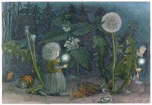 エルンスト・クライドルフ – 夜のぬすびと (Blumen Maerchenより)のサムネイル画像