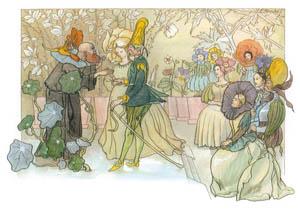 thumbnail Ernst Kreidolf – Wedding [from Flower Fairy Tale]