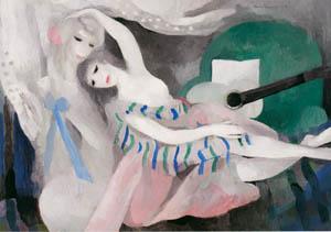 マリー・ローランサン – ギターと二人の乙女 (マリー・ローランサンとその時代展 巴里に魅せられた画家たちより)のサムネイル画像