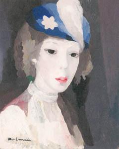 マリー・ローランサン – 帽子をかぶった自画像 (マリー・ローランサンとその時代展 巴里に魅せられた画家たちより)のサムネイル画像