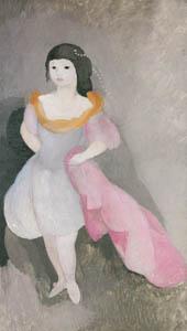 マリー・ローランサン – エティエンヌ・ド・ボーモン伯爵夫人の空想的肖像 (マリー・ローランサンとその時代展 巴里に魅せられた画家たちより)のサムネイル画像